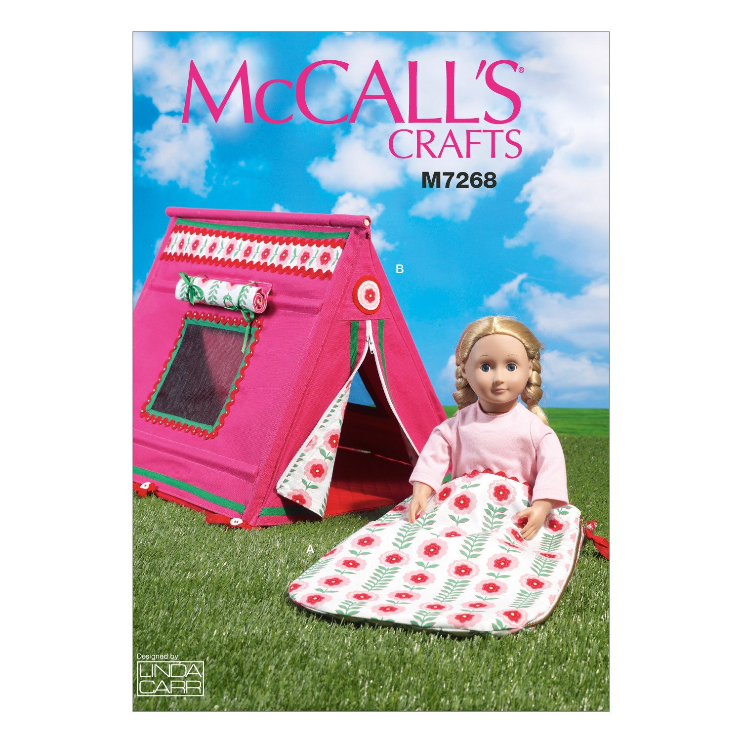 "M7268 18"" Doll's Sleeping Bag and Tent"