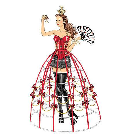 M7306 Corsets, Shorts, Collars, Hoop Skirts and Crown