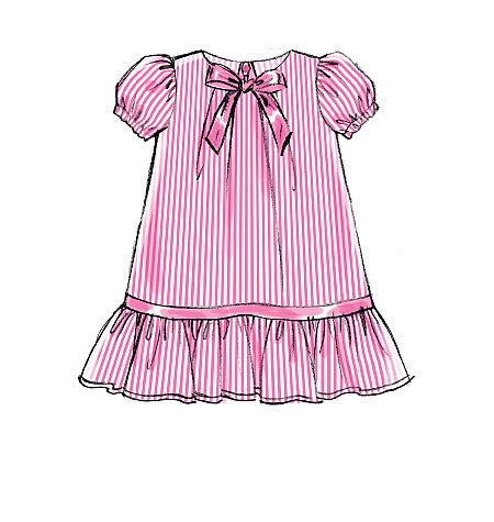 M7308 Toddlers' Tent Dress.