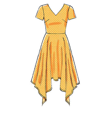 M7315 Misses' Handkerchief-Hem Dresses