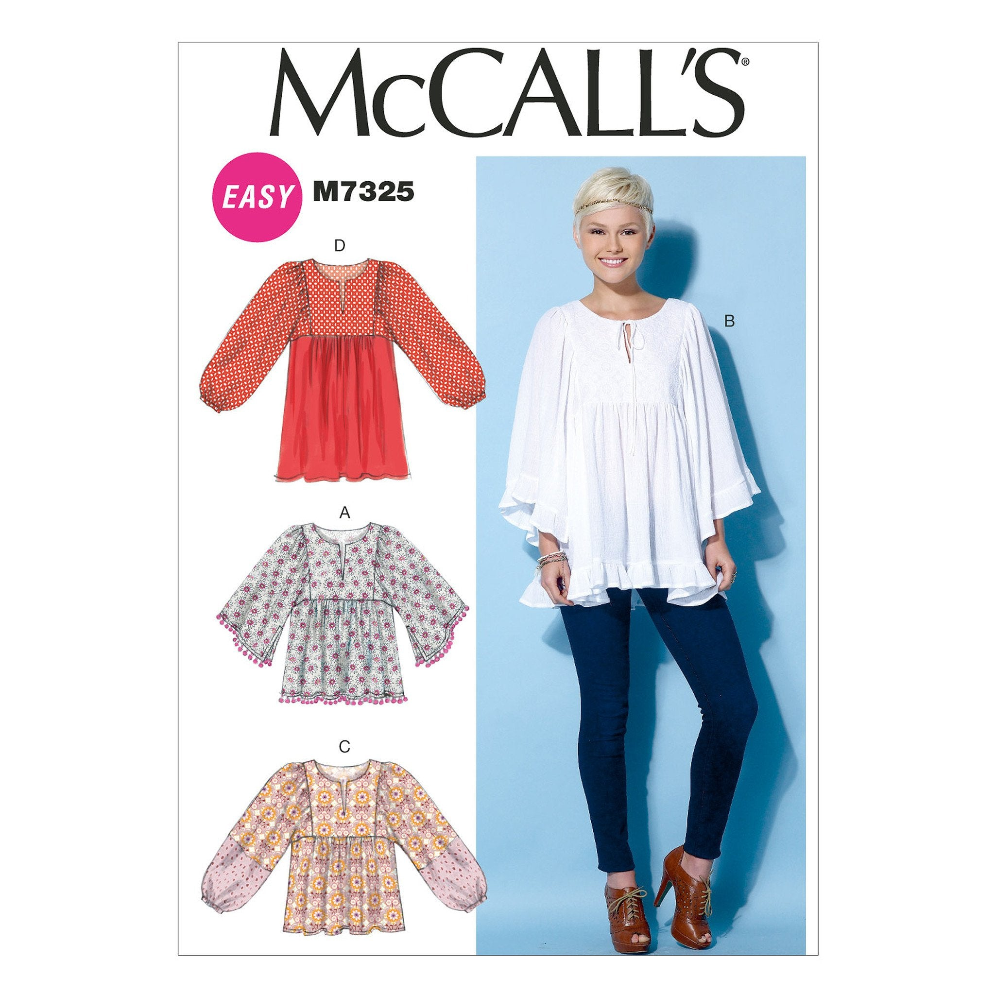 M7325 Misses' Gathered Tops & Tunics