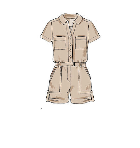 M7330 Misses' Button-Up Romers & Jumpsuits