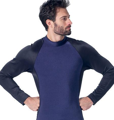 M7340 Mens zippered bodysuit by Yaya Han