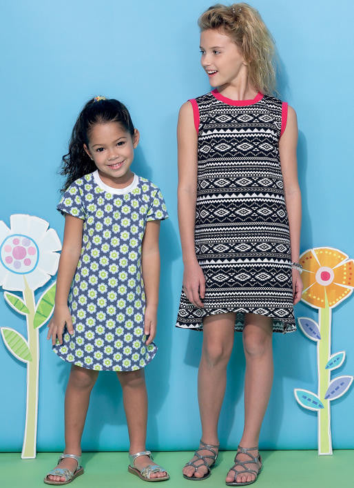 M7344 Girls Raglan sleeve Knit Dresses