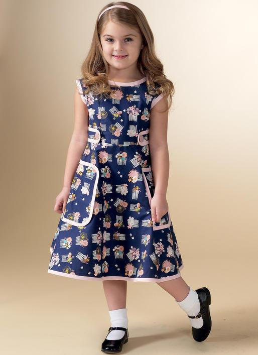 M7354 Misses/Childrens Matching Back-wrap dresses