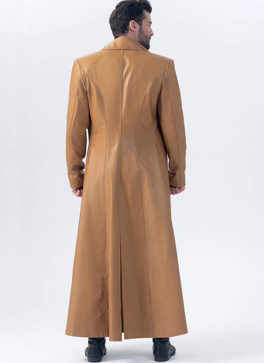 M7374 Yaya Han Mens Collared and Seamed Coats