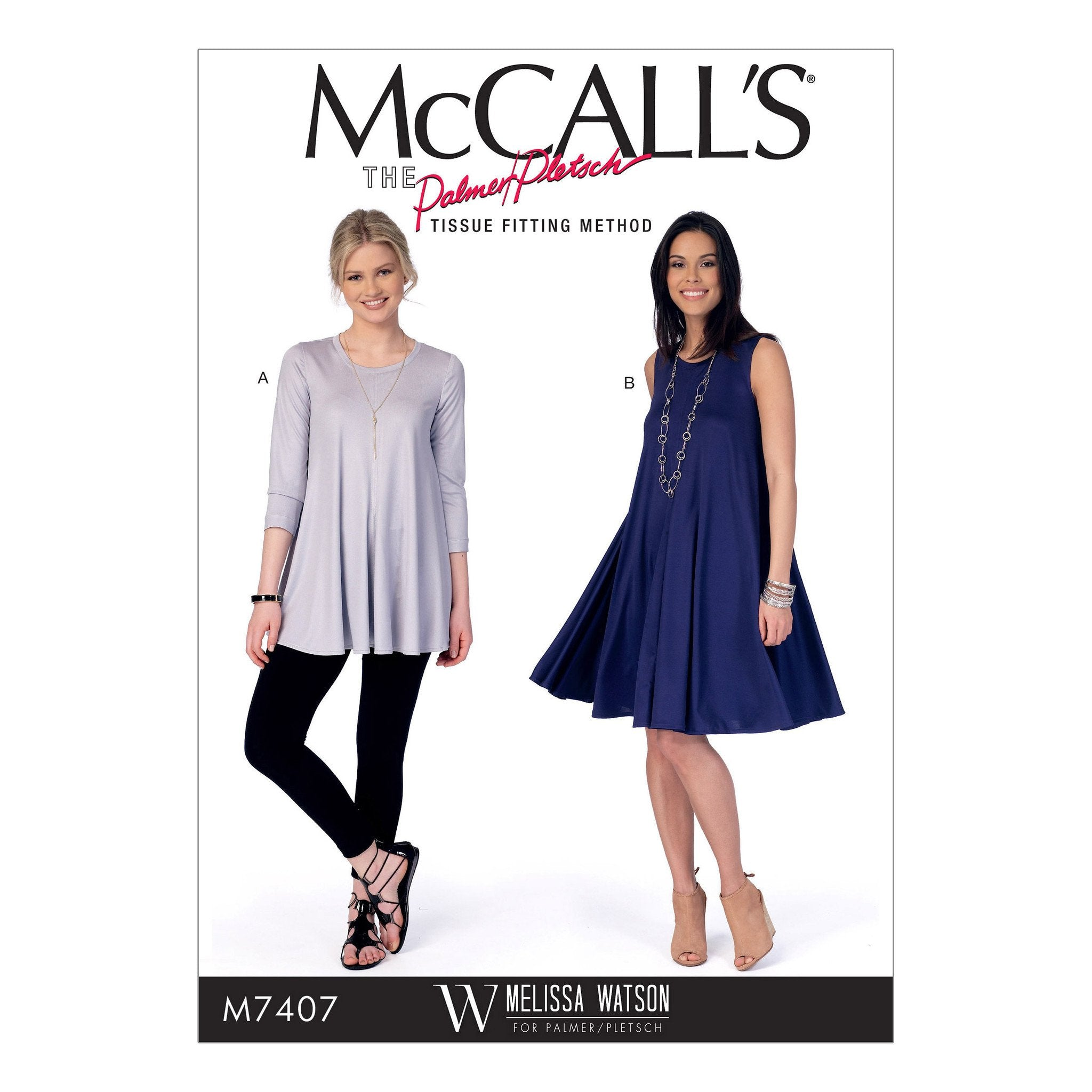 M7407 Top and Dress McCalls pattern