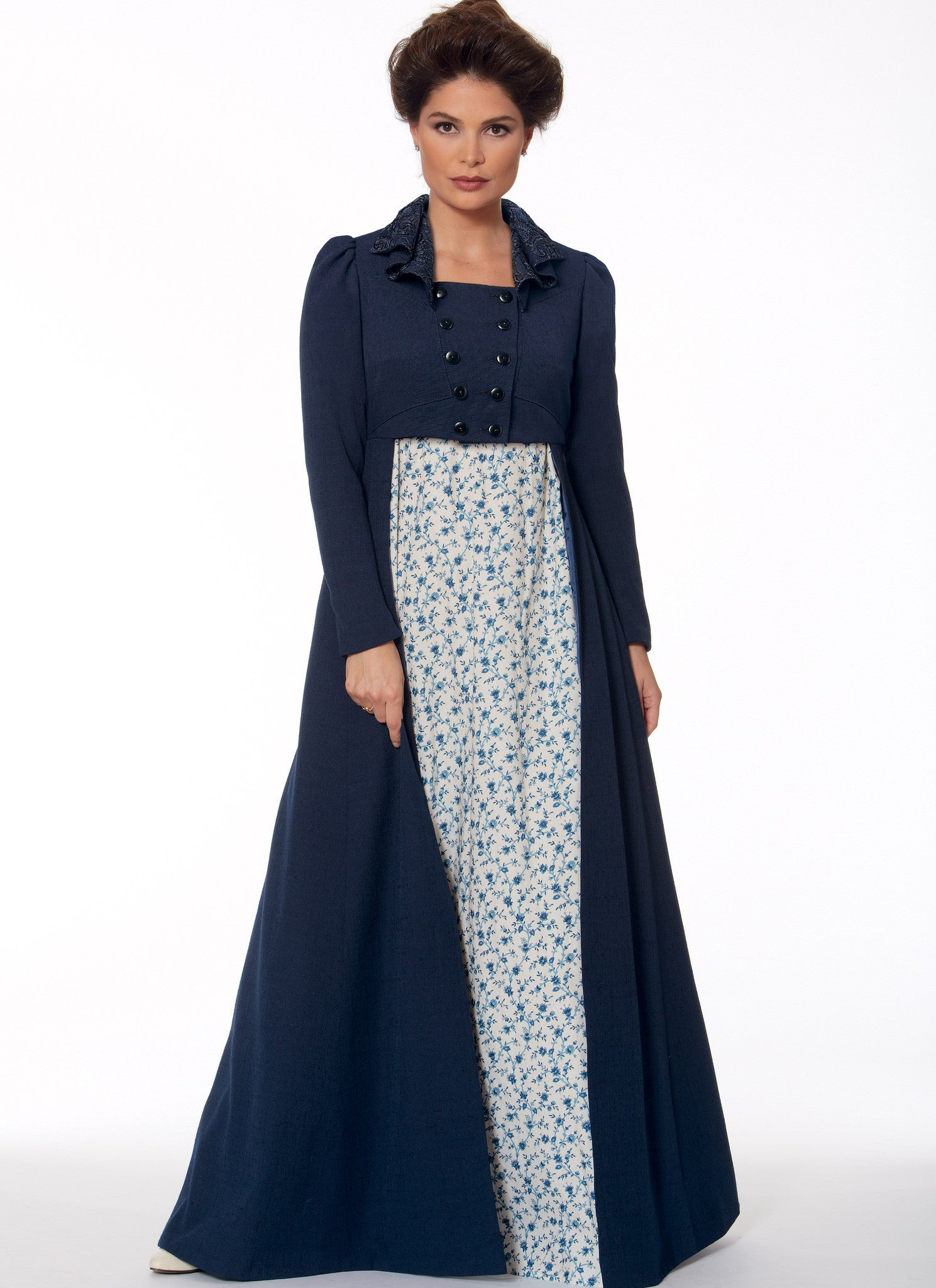 M7493 Cropped Jacket, Floor-Length Coat and A-Line, Square ...