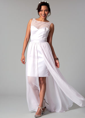 M7507 Misses' Mix-and-Match Sweetheart Bridal Dresses