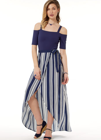 9d44d032376 ... wrap skirt teamed with off the shoulder body suit - pattern 7606