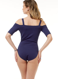 M7606 Off-the-Shoulder Bodysuits and Wrap Skirts from Jaycotts Sewing Supplies