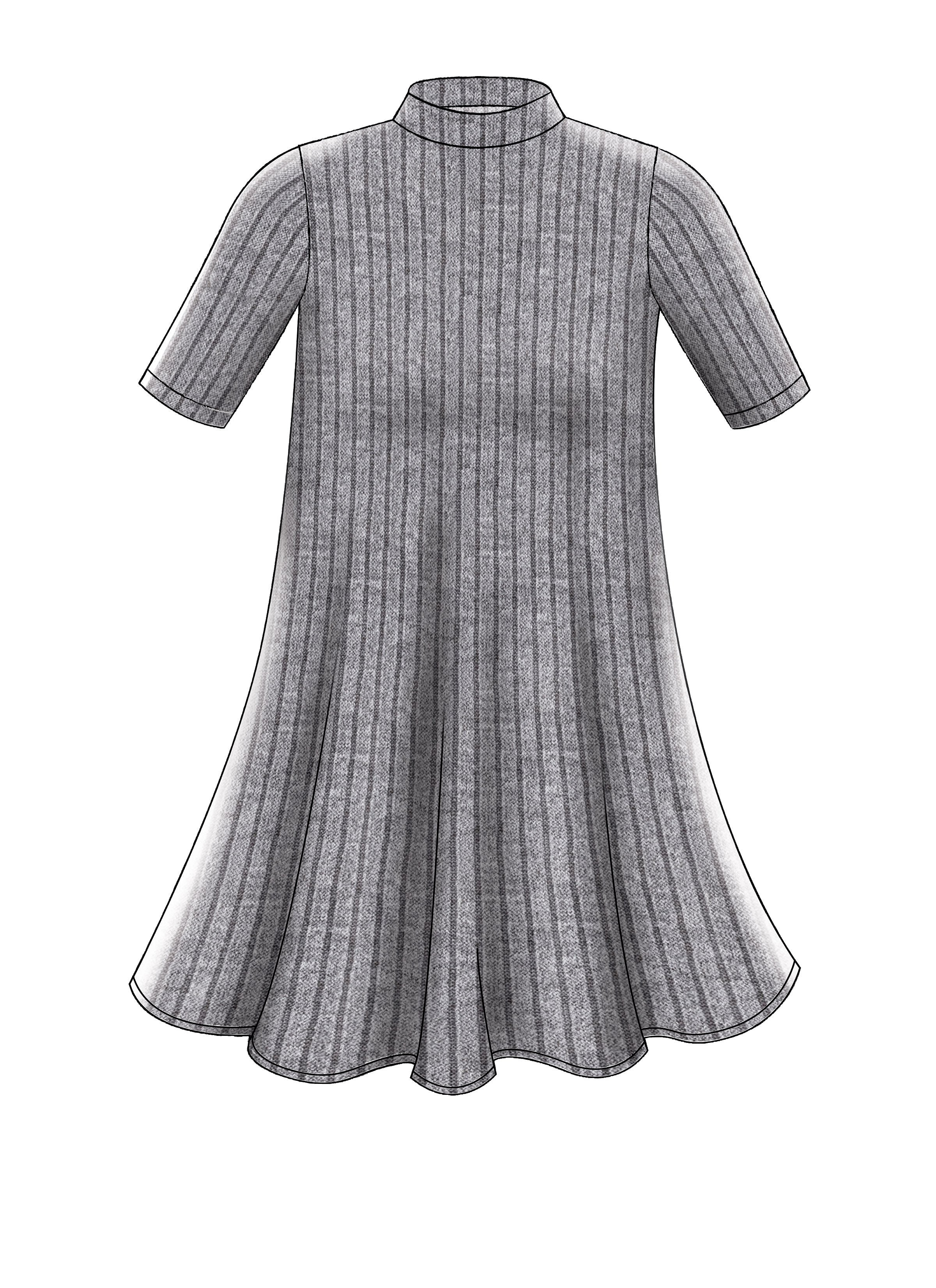 M7622 Knit Swing Dresses Pattern