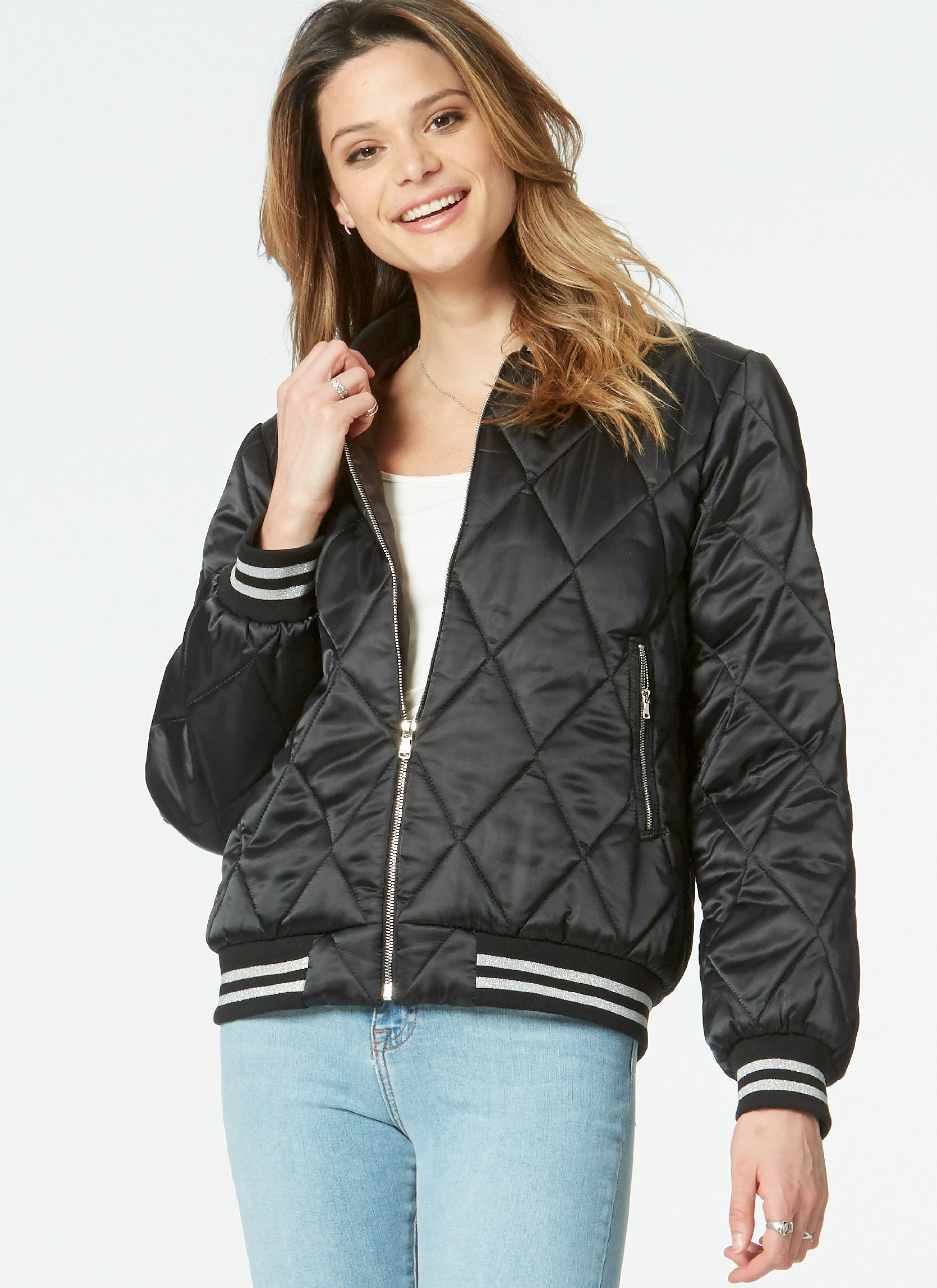 M7637 Misses' and Men's Bomber Jackets
