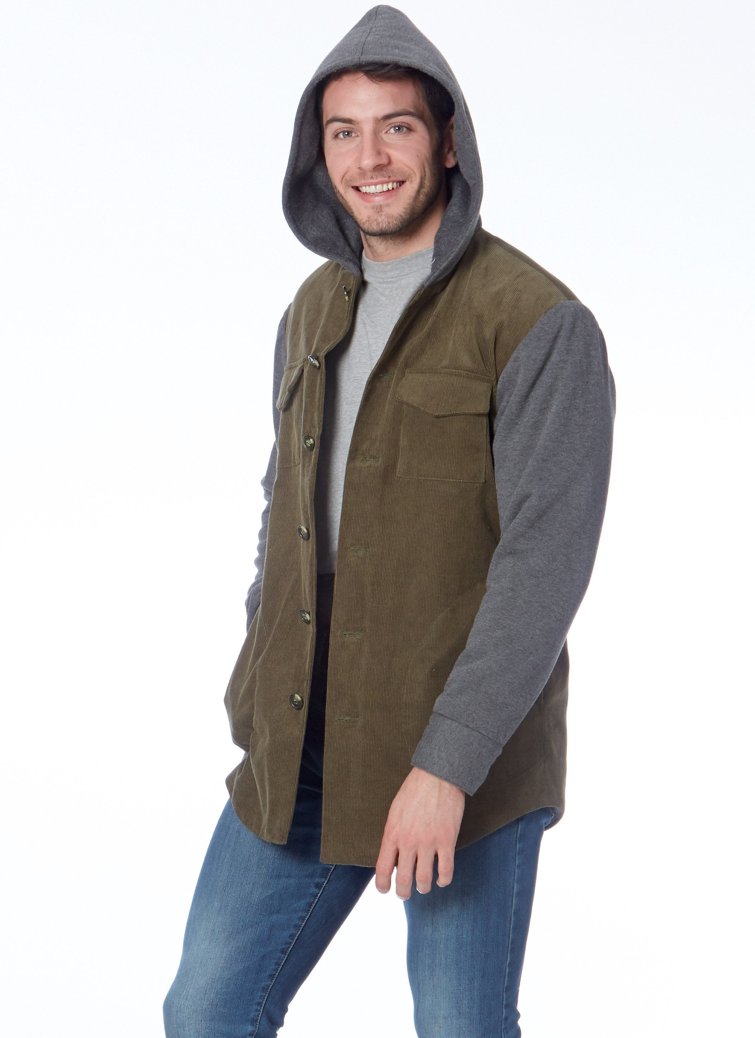 M7638 Mens / Boys Jackets with Hood Options