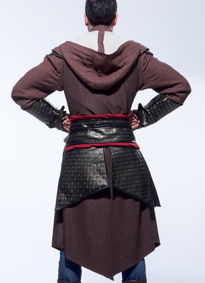 M7646 Men's Tunic, Top, Capelet and Gauntlets Costume