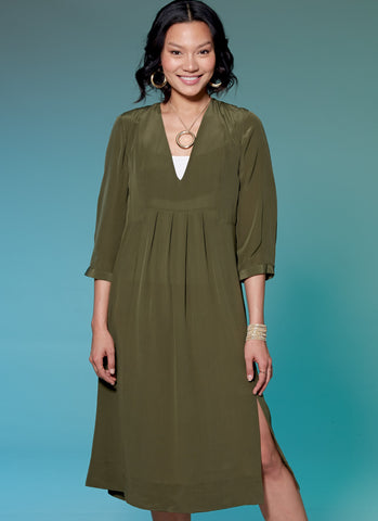 M7650 V-Neck or Square-Neck Top, Tunic, and Dresses