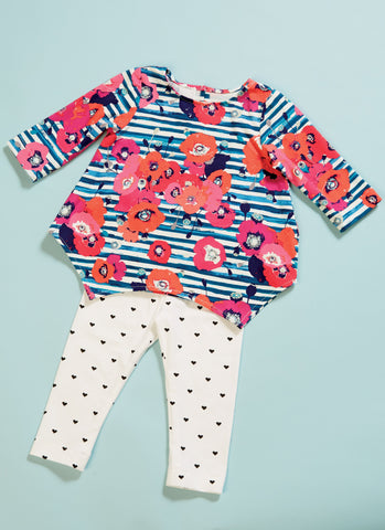 M7677 Infants Contrast Tops and Leggings