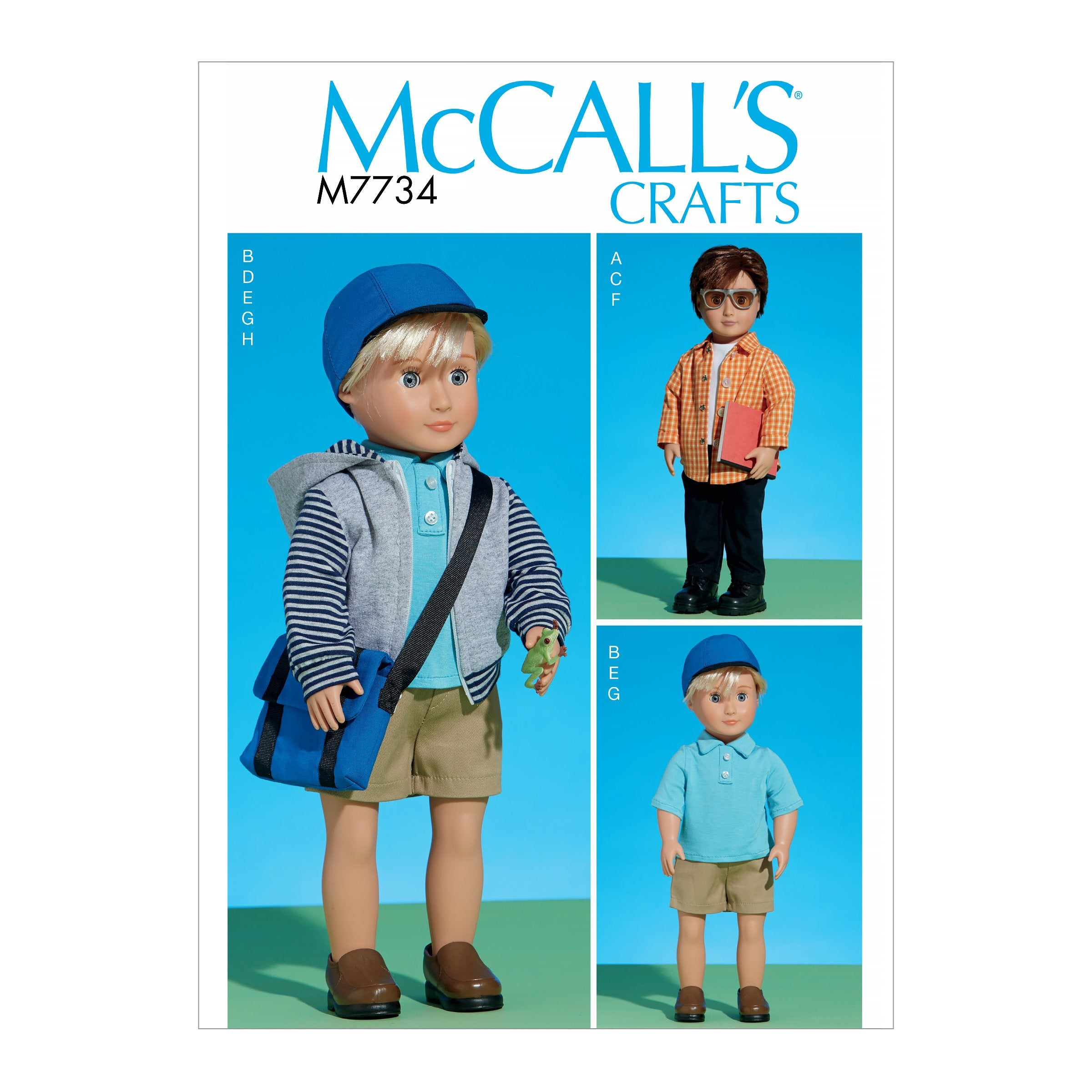 "M7734 Pattern | Clothes For 18"" Doll"