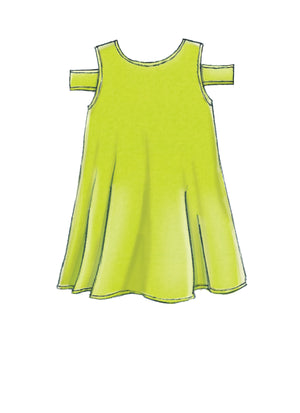 M7737 Girls' Dresses Sewing Pattern