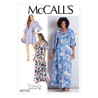 M7743 Misses'/Women's Dresses Sewing Pattern
