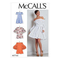 M7744 Misses' Dresses and Belt Sewing Pattern