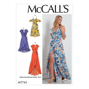 M7745 Misses' Dresses Sewing Pattern from Jaycotts Sewing Supplies