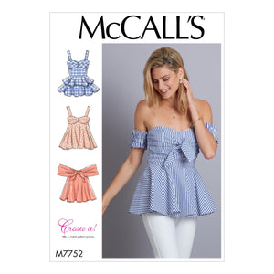 M7752 Misses' Tops Pattern from Jaycotts Sewing Supplies