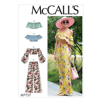 M7757 Misses' Tops and Pants Pattern from Jaycotts Sewing Supplies