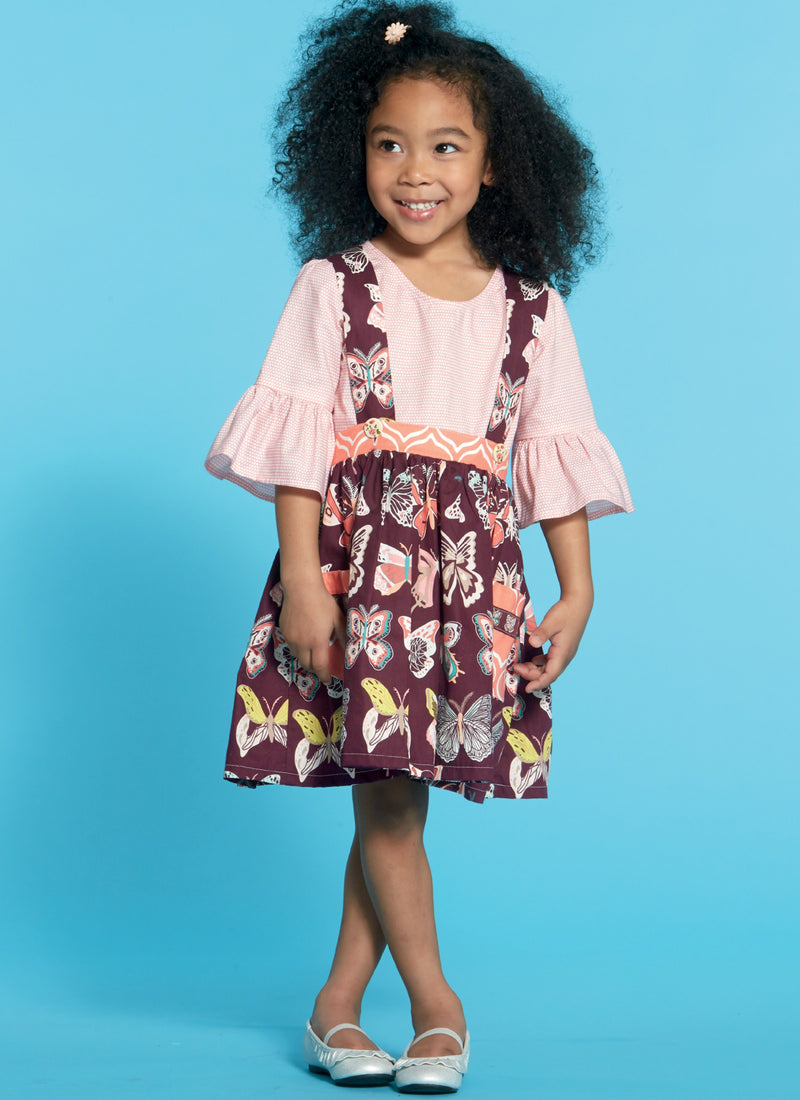 M7797 Girls' Tops and Skirt Pattern