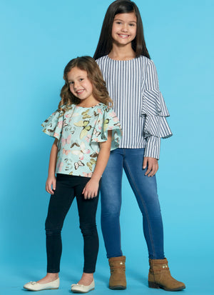 M7799 Girls' Tops Pattern from Jaycotts Sewing Supplies