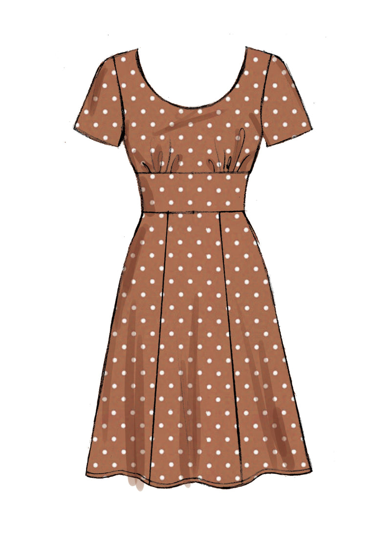 M7802 Dress Pattern from Jaycotts Sewing Supplies