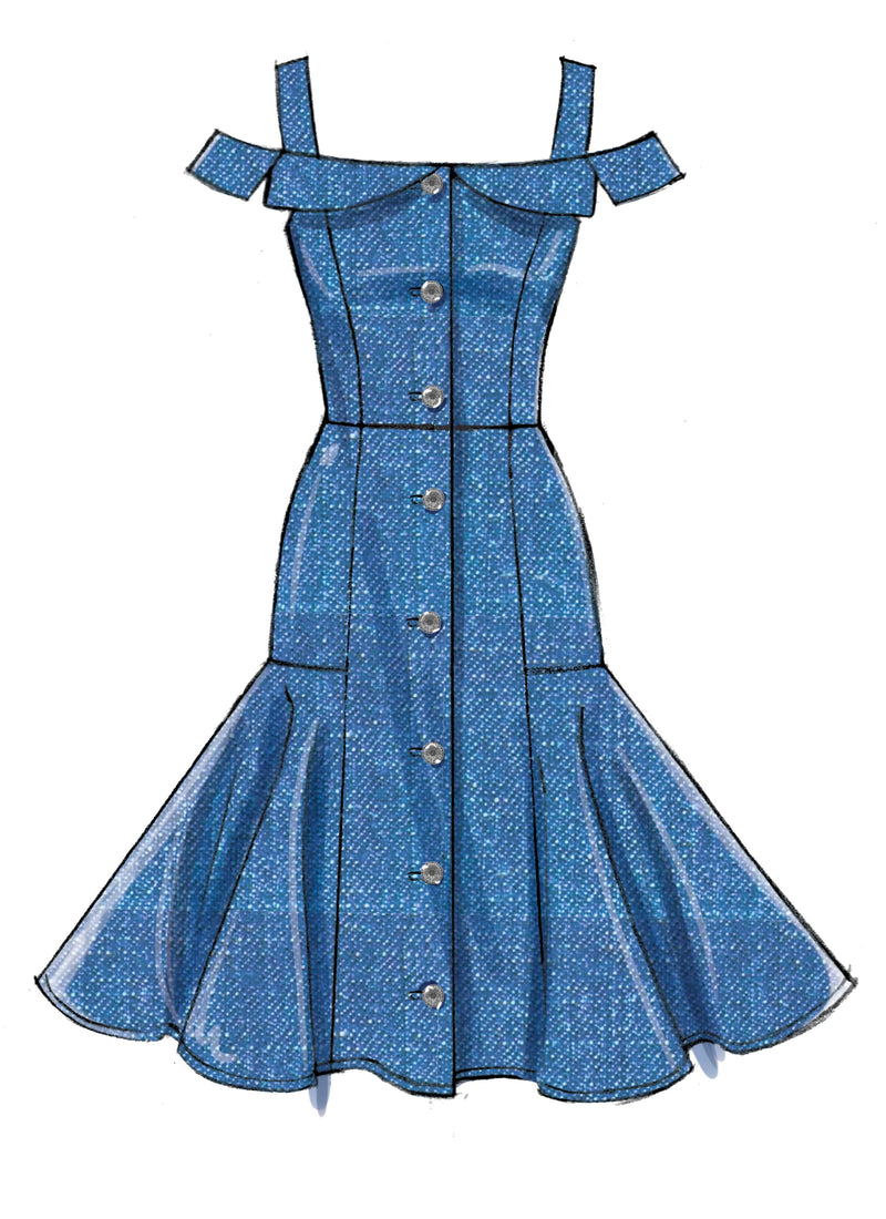 M7805 Dress Pattern from Jaycotts Sewing Supplies