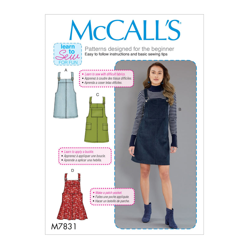 M7831 Misses' Jumpers Sewing Pattern from Jaycotts Sewing Supplies