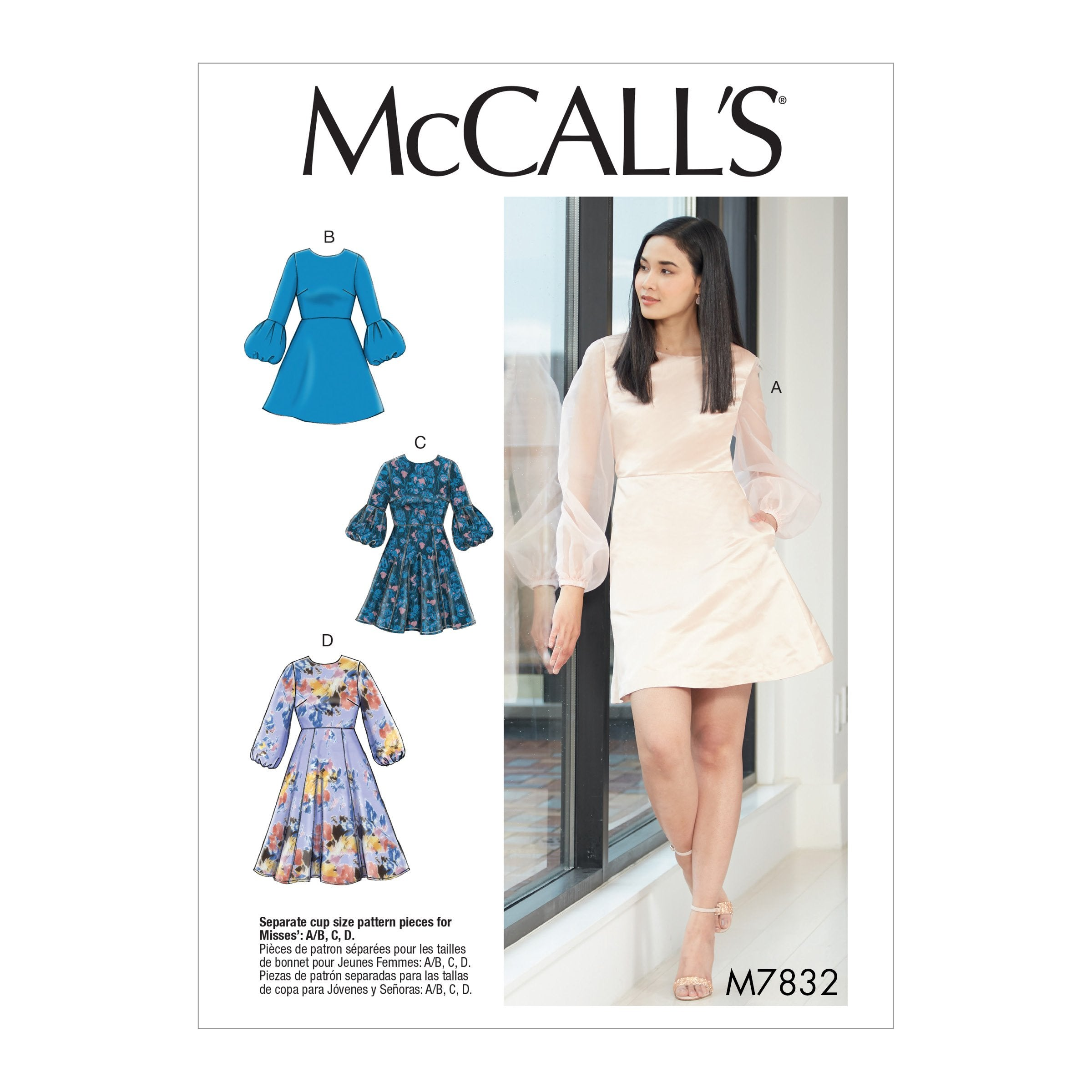 M7832 Misses' Dresses Sewing Pattern