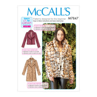 M7847 Misses' Coats Sewing Pattern from Jaycotts Sewing Supplies
