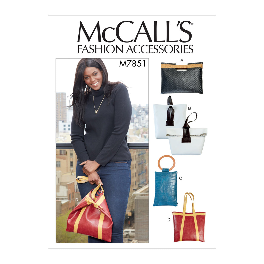 M7851 Bags Sewing Pattern