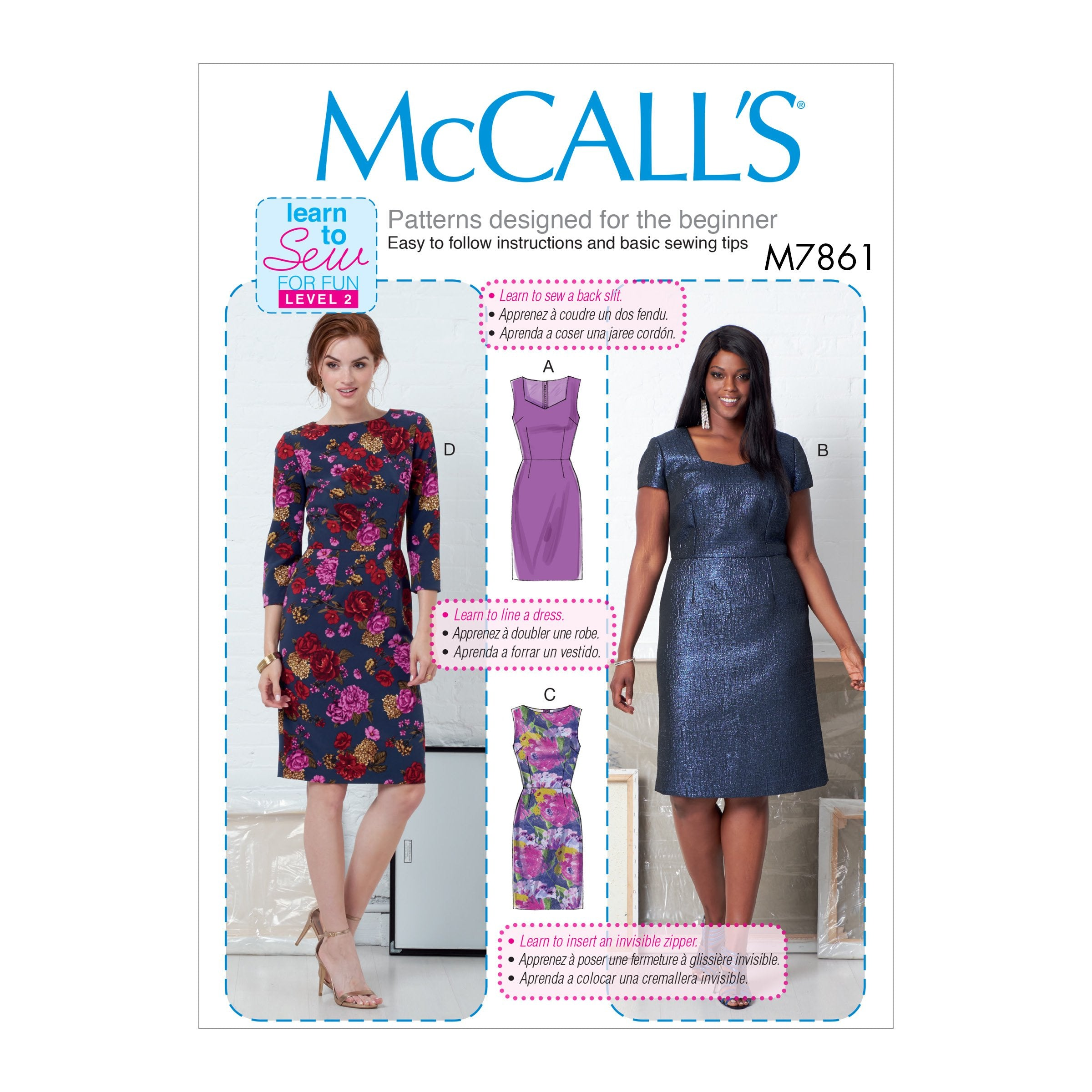 M7861 Misses' and Women's Dresses Pattern