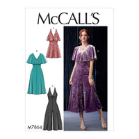 M7864 Misses'/Miss Petite Dresses and Jumpsuits from Jaycotts Sewing Supplies