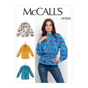 M7868 Misses' Tops Sewing Pattern from Jaycotts Sewing Supplies
