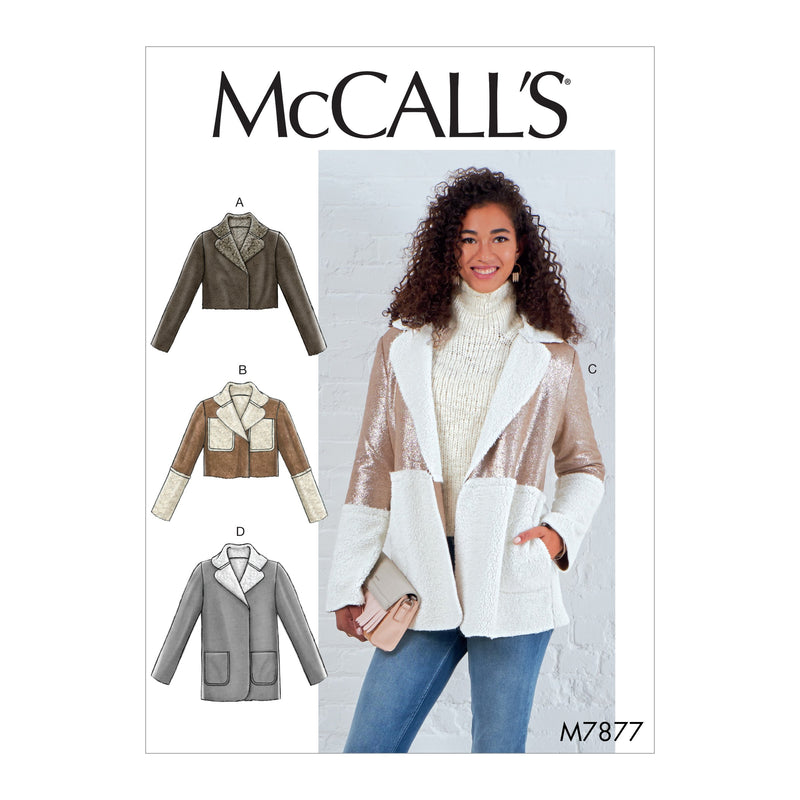 M7877 Misses' Jackets Sewing Pattern from Jaycotts Sewing Supplies