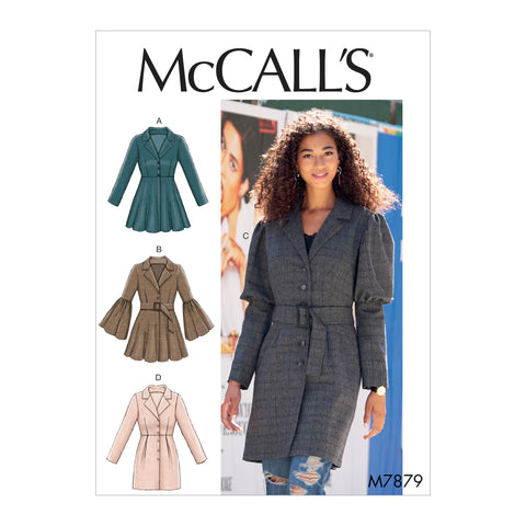 M7879 Misses' Coats Sewing Pattern