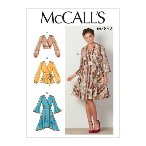 M7892 Misses' Tops and Dresses  sewing pattern