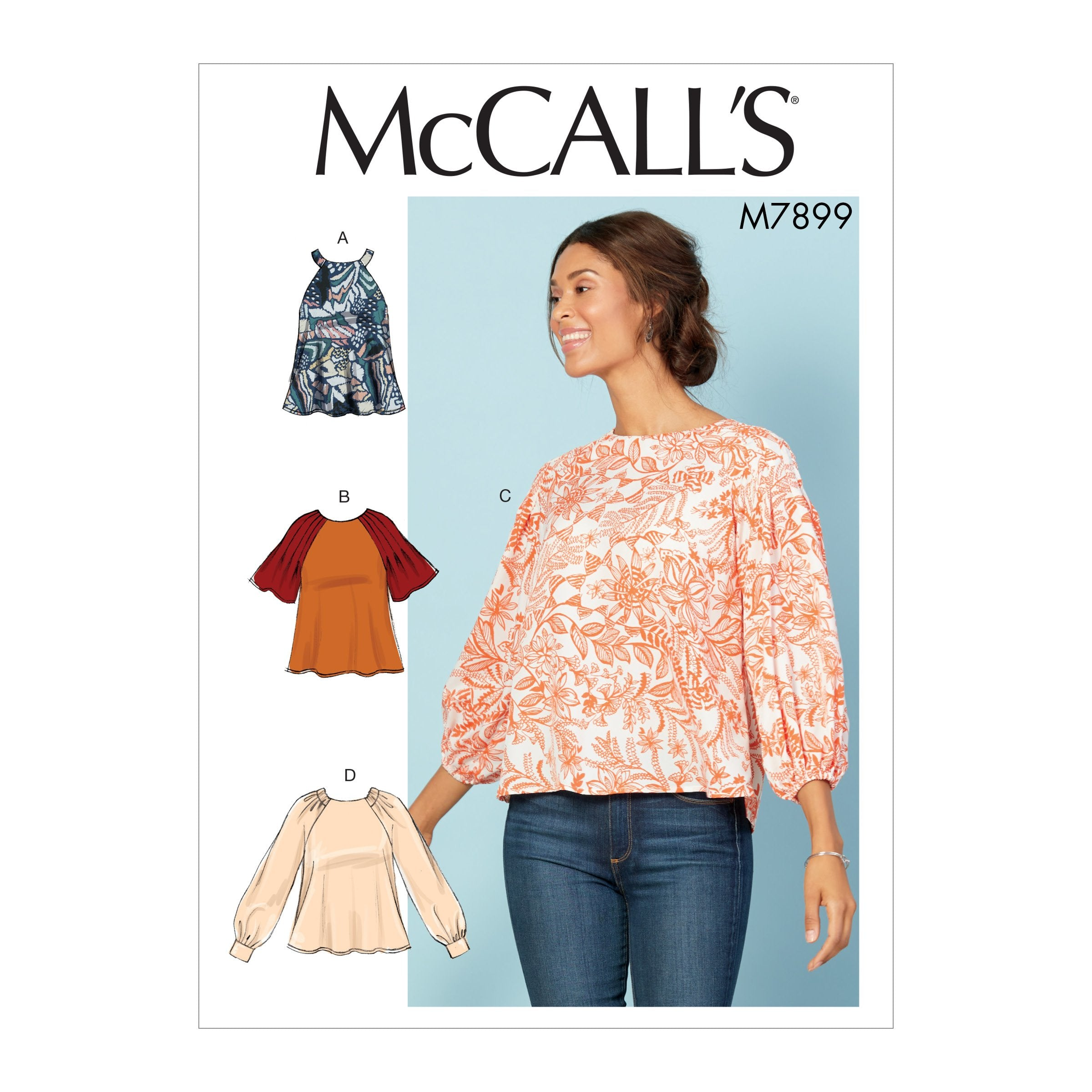 M7899 Misses' Tops Sewing Pattern