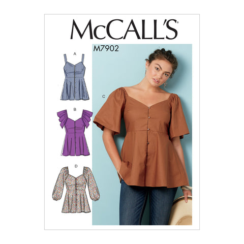 M7902 Misses' Tops Sewing Pattern