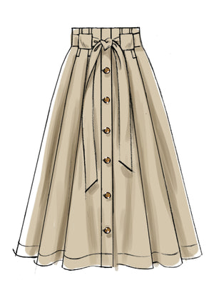 M7906 Misses' Skirts Sewing Pattern from Jaycotts Sewing Supplies
