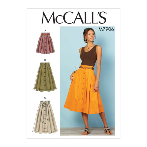 M7906 Misses' Skirts Sewing Pattern