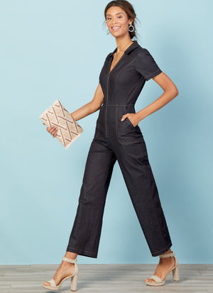 M7908 Misses'/Miss Petite Jumpsuits | A/B, C & D Cup Sizes from Jaycotts Sewing Supplies