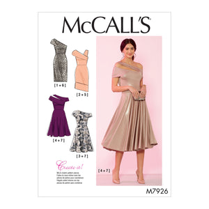 McCall's 7926 Special Occasion Dresses Pattern from Jaycotts Sewing Supplies
