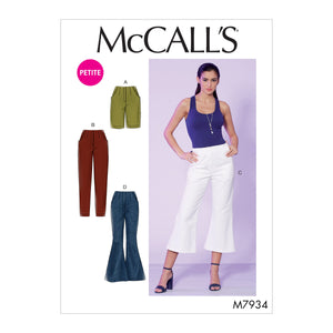 McCall's 7934 Misses'/Miss Petite Shorts and Pants