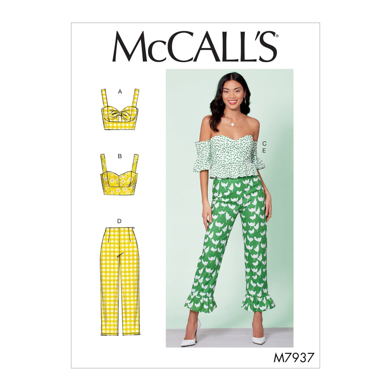 McCall's 7937 Misses' Tops and Pants Pattern